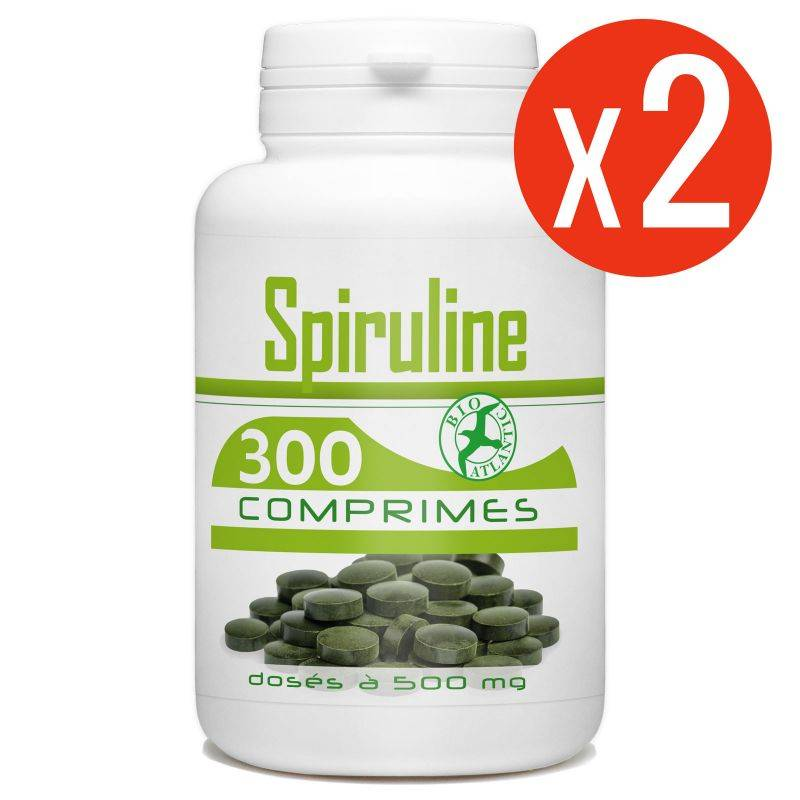 Bio Atlantic Spiruline - 500 mg - 600 comprimés