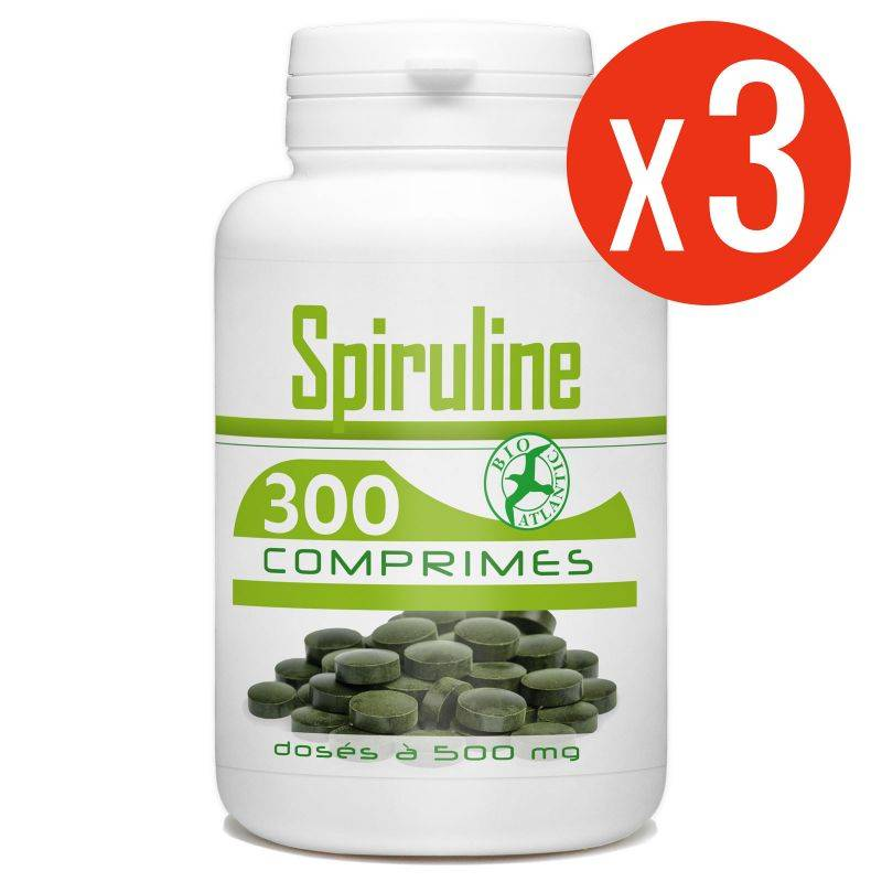 Bio Atlantic Spiruline - 500 mg - 900 comprimés