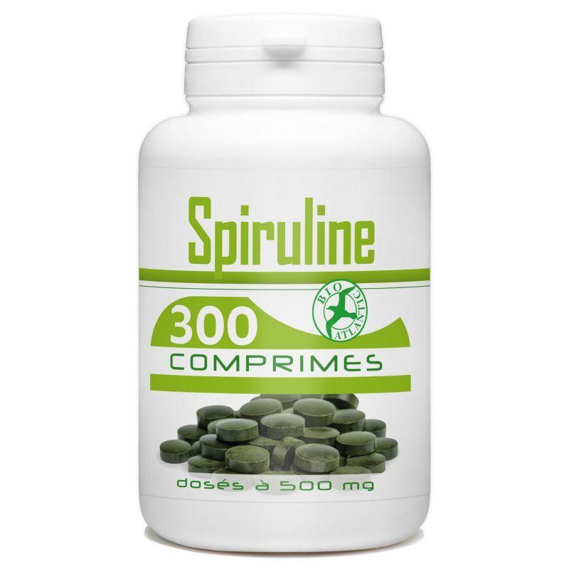 Bio Atlantic Spiruline - 500 mg - 300 comprimés