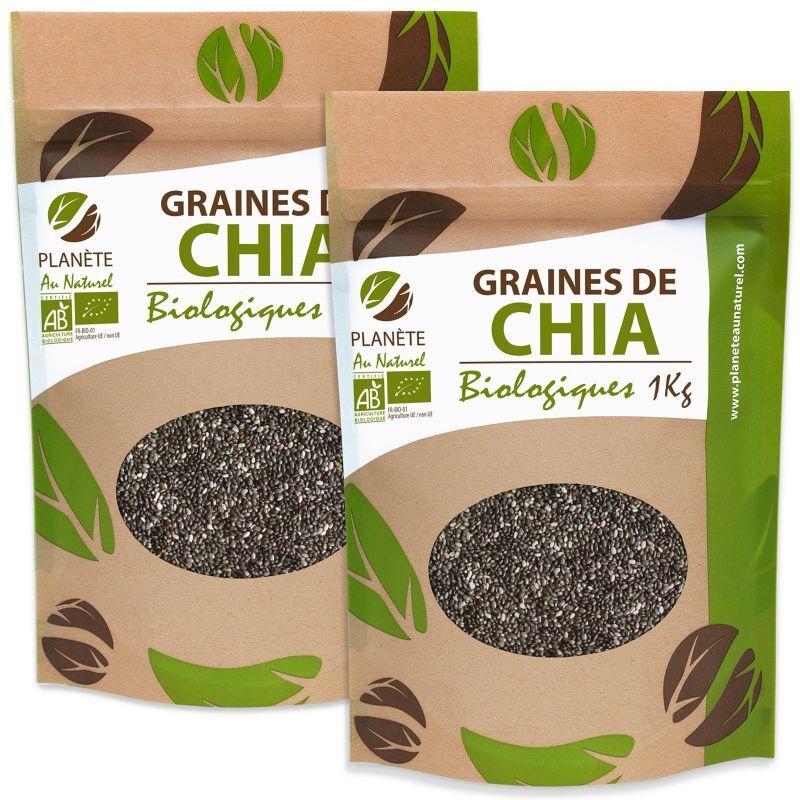 Planète au Naturel Graines de Chia Bio - 2 kg