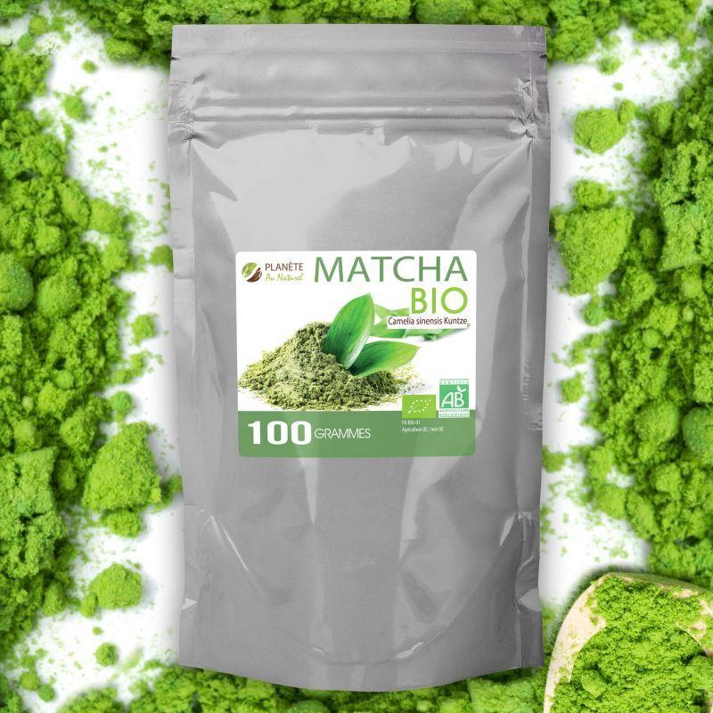 Planète au Naturel Matcha Bio en poudre - Thé Vert - 100 g