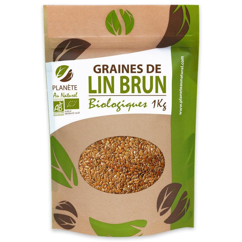 Planète au Naturel Graines de Lin Brun Bio - 1 kg