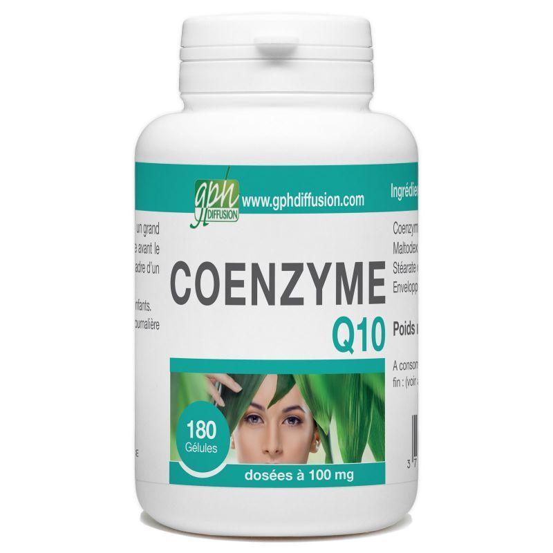 GPH Diffusion CoEnzyme Q10 - 100 mg - 180 Gélules Végétales