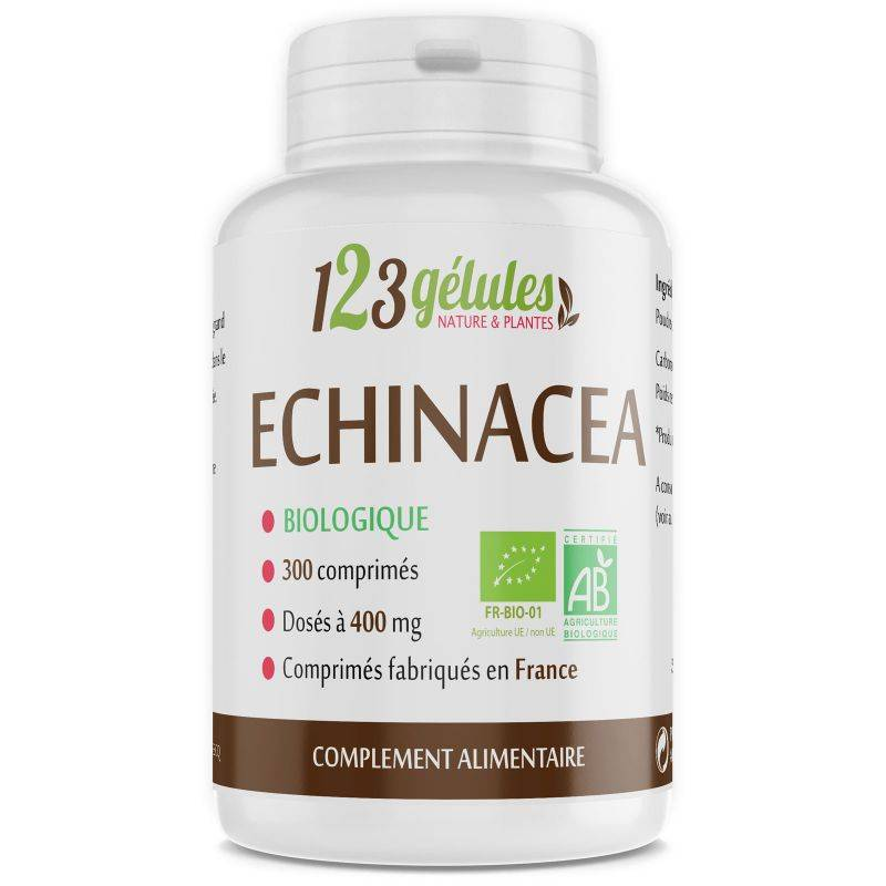 123gelules Echinacéa Bio racine - 400 mg - 300 comprimés