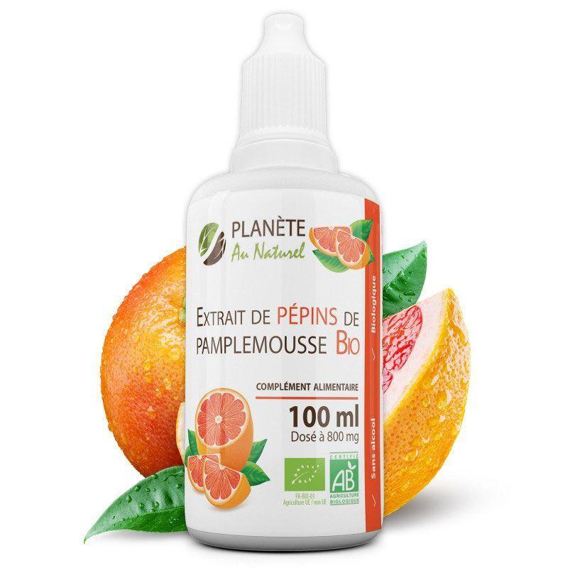 Planète au Naturel Extrait de Pépins de Pamplemousse Bio - 800 mg 100 ml (EPP)