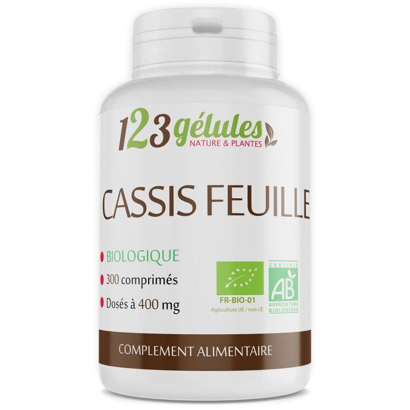 123gelules Cassis feuille Bio - 400 mg - 300 comprimés