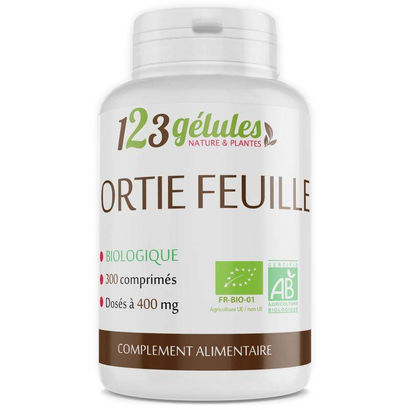 123gelules Ortie feuille Bio - 400 mg - 300 comprimés