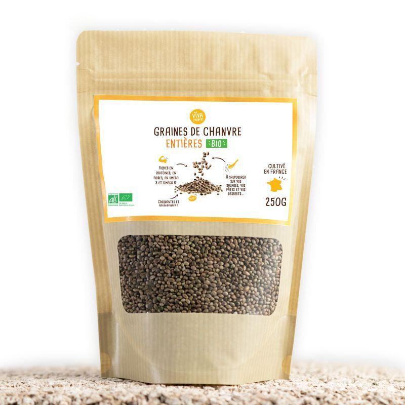 VivaChanvre Graines de Chanvre Bio Entières - 250 g