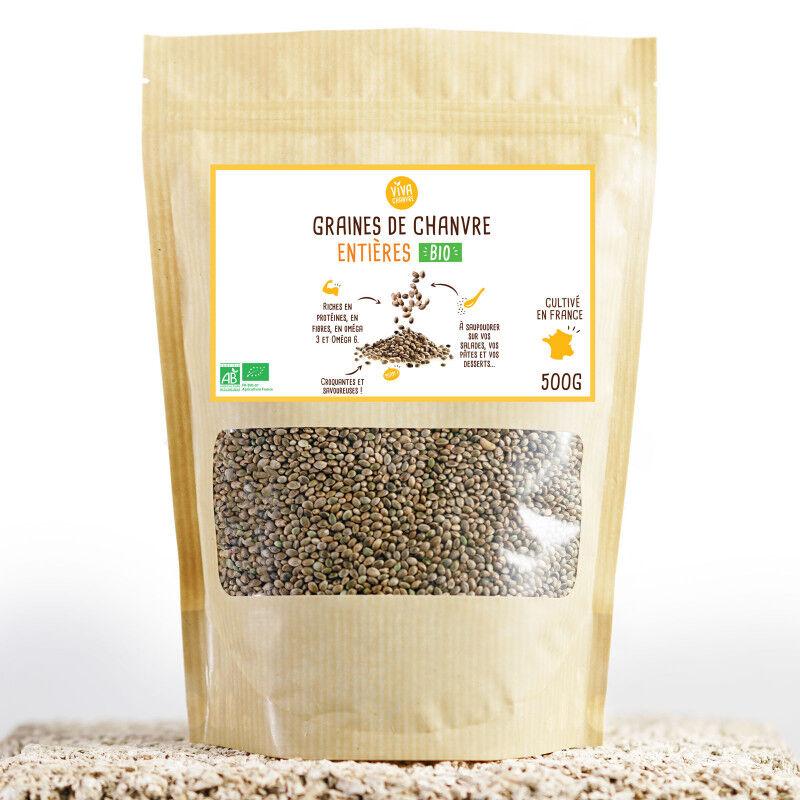VivaChanvre Graines de Chanvre Bio Entières - 500 g