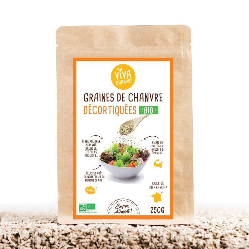 VivaChanvre Graines de Chanvre Bio Décortiquées - 250 g
