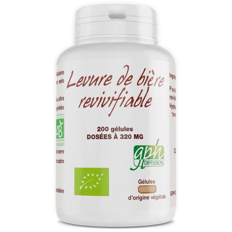 GPH Diffusion Levure de Bière Bio - 320 mg - 200 gélules végétales