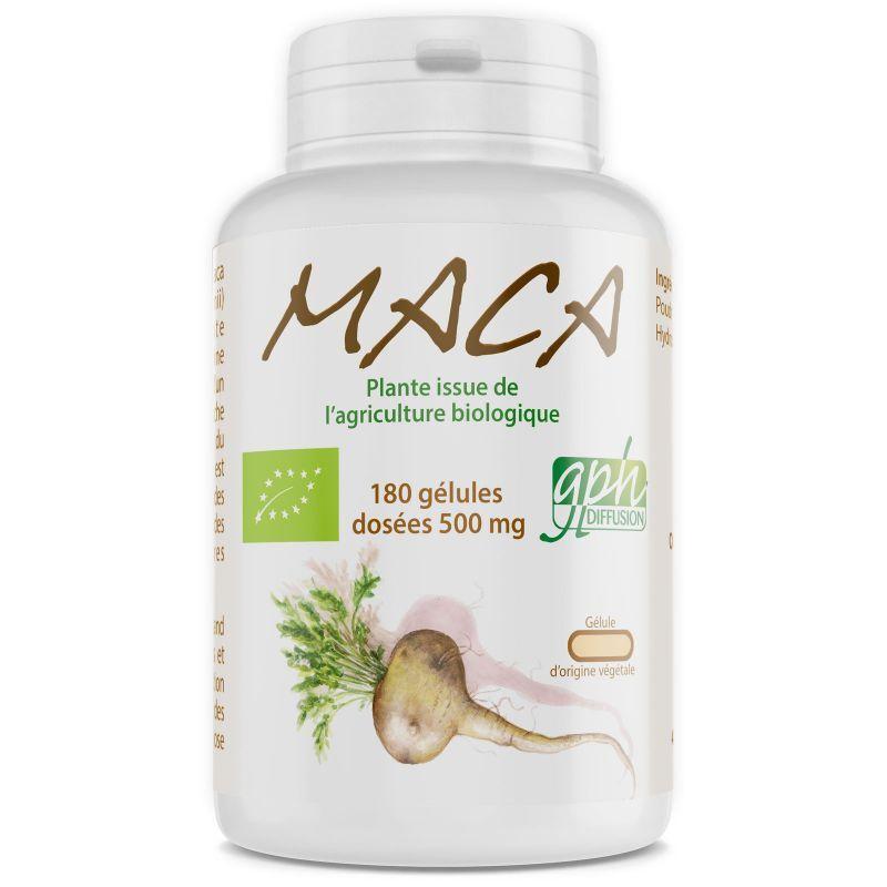 GPH Diffusion Maca du pérou Biologique - 500 mg - 180 gélules végétales