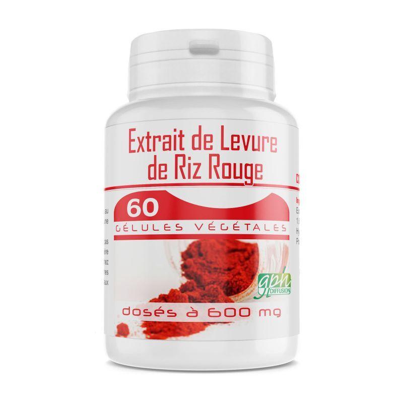 GPH Diffusion Levure de Riz Rouge 1,6% - 600 mg - 60 gélules