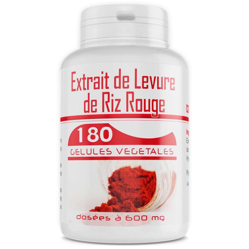 GPH Diffusion Levure de Riz Rouge 1,6% - 600 mg - 180 gélules