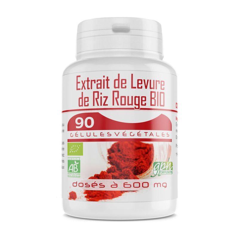 GPH Diffusion Levure de Riz Rouge 1,6% - 600 mg - 90 gélules bio