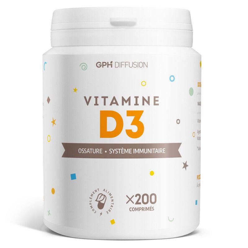 GPH Diffusion Vitamine D3 - 5 µg - 200 Comprimés