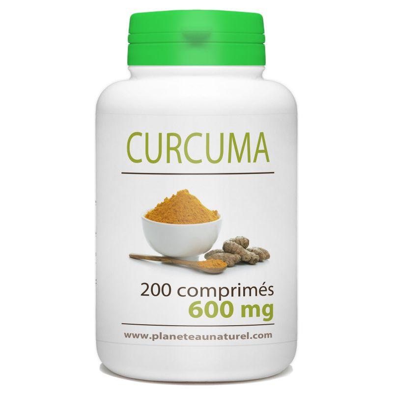 Planète au Naturel Curcuma - 600 mg - 200 comprimés