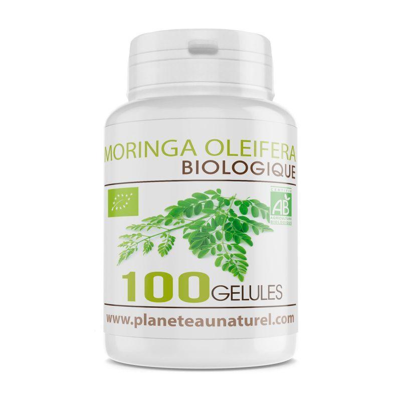 Planète au Naturel Moringa Oleifera Bio - 400 mg - 100 gélules végétales