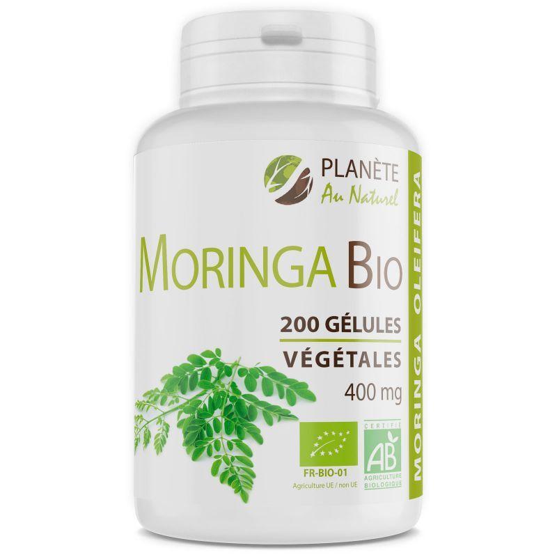 Planète au Naturel Moringa Oleifera Bio - 400 mg - 200 gélules végétales