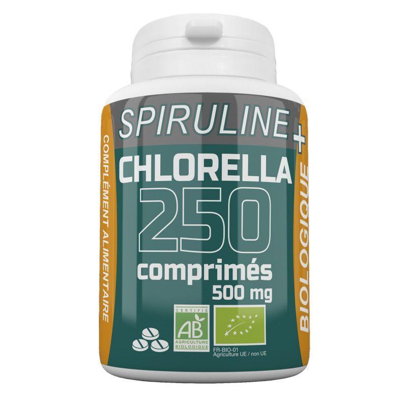 GPH Diffusion Spiruline + Chlorella Bio - 500 mg - 250 comprimés