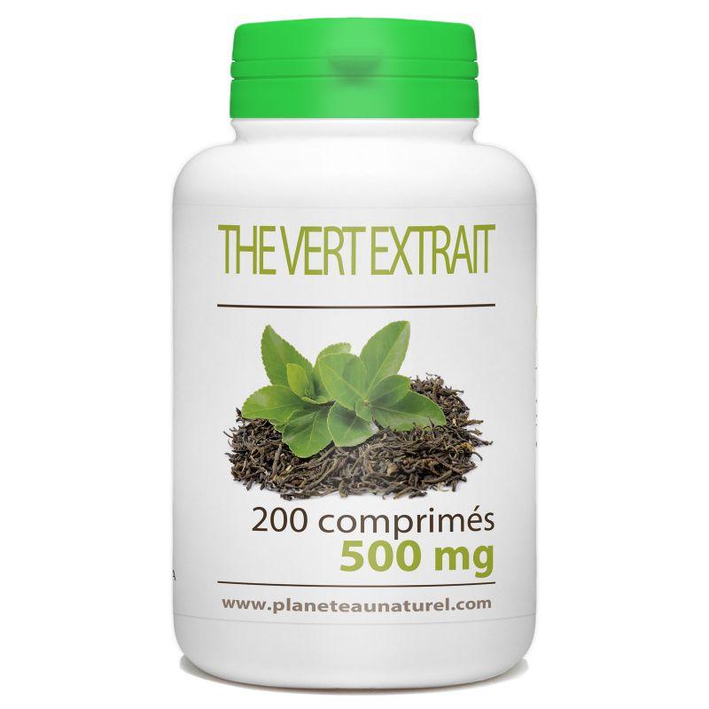 Planète au Naturel Thé Vert - 500 mg - 200 comprimés