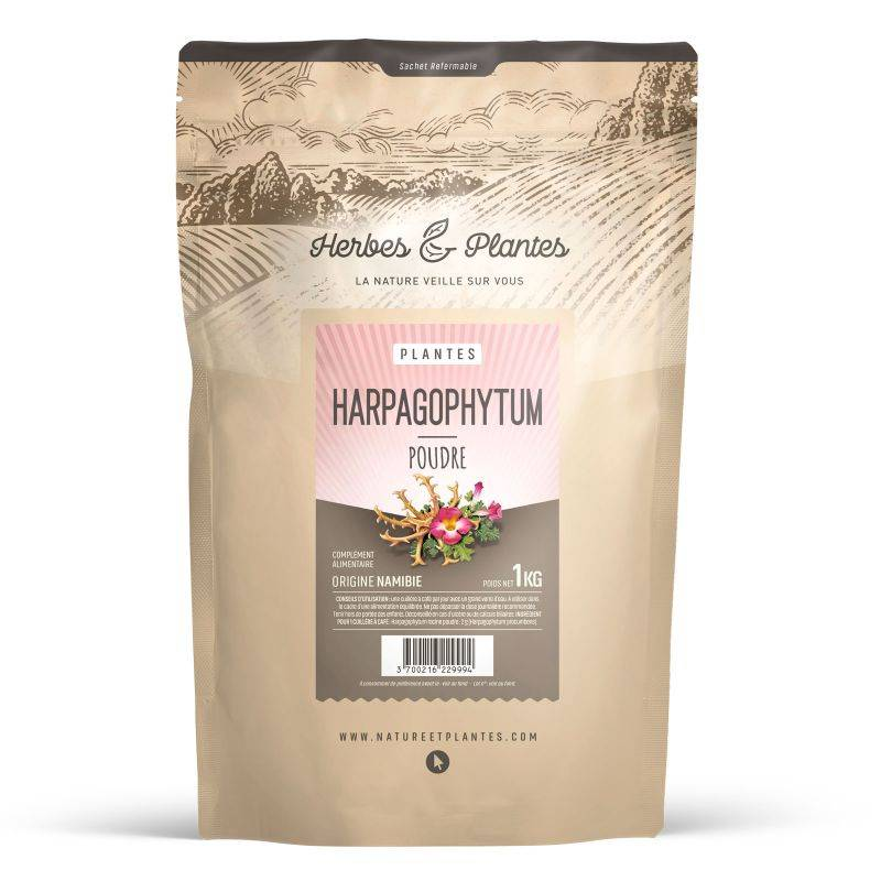 Herbes et Plantes Harpagophytum - poudre 1 kg