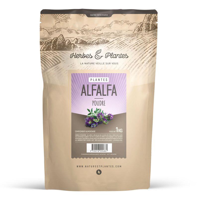 Herbes et Plantes Alfalfa (luzerne) - 1 kg de poudre