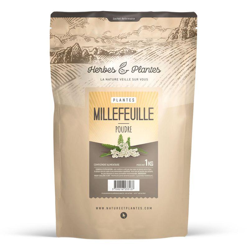Herbes et Plantes Millefeuille - Poudre 1 kg