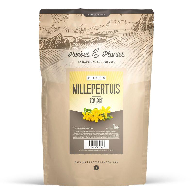 Herbes et Plantes Millepertuis - Poudre 1 kg
