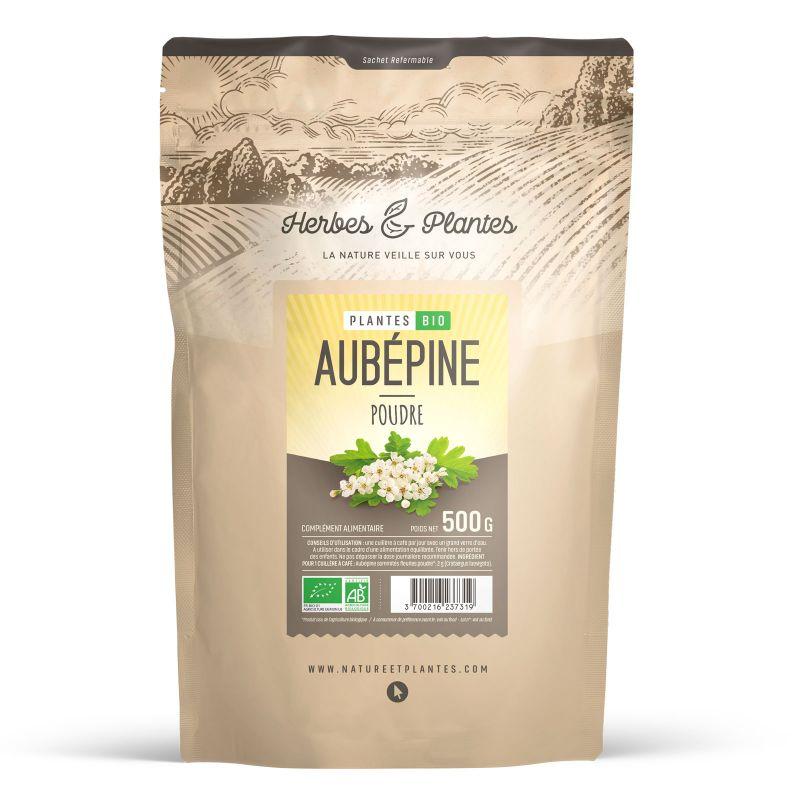 Herbes et Plantes Aubépine Bio - en poudre de 500 g