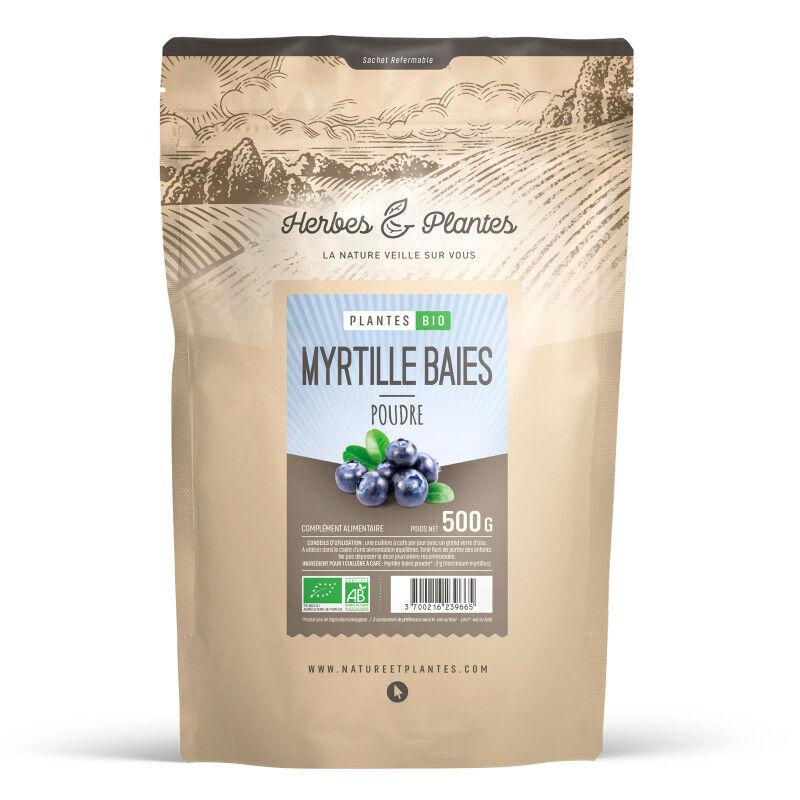 Herbes et Plantes Myrtille baie bio - 500 g de poudre