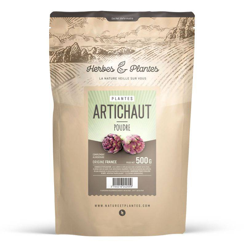 Herbes et Plantes Artichaut feuille - 500 g en poudre