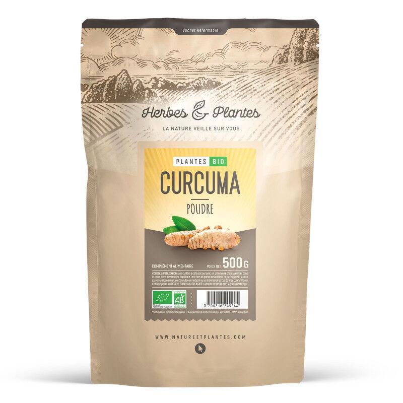 Herbes et Plantes Curcuma Bio - 500 g de poudre