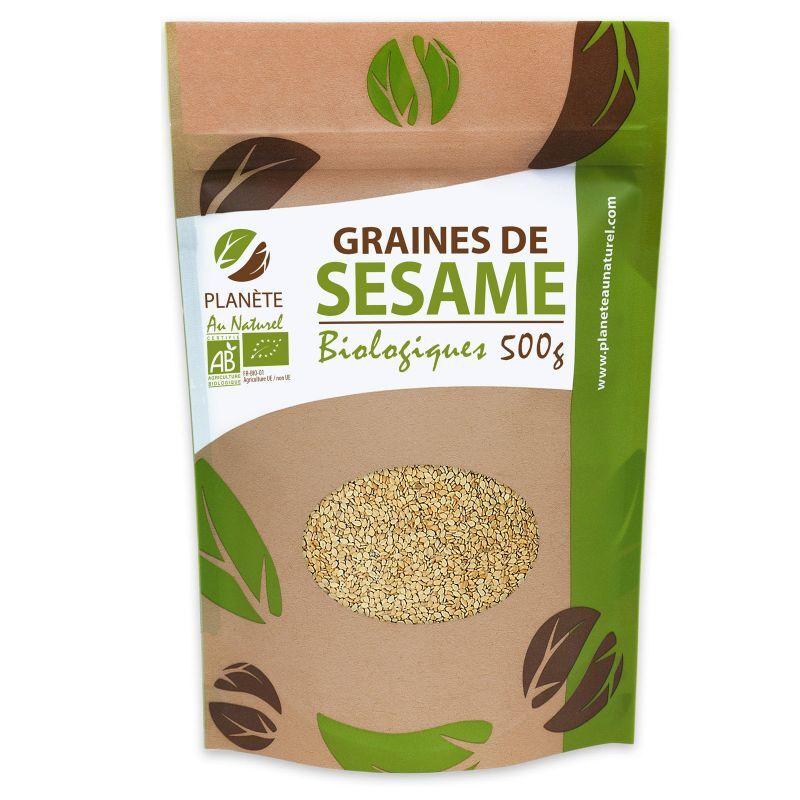 Planète au Naturel Graines de Sésame Bio - 500 g
