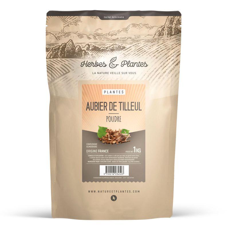 Herbes et Plantes Aubier de Tilleul - Poudre 1 kg