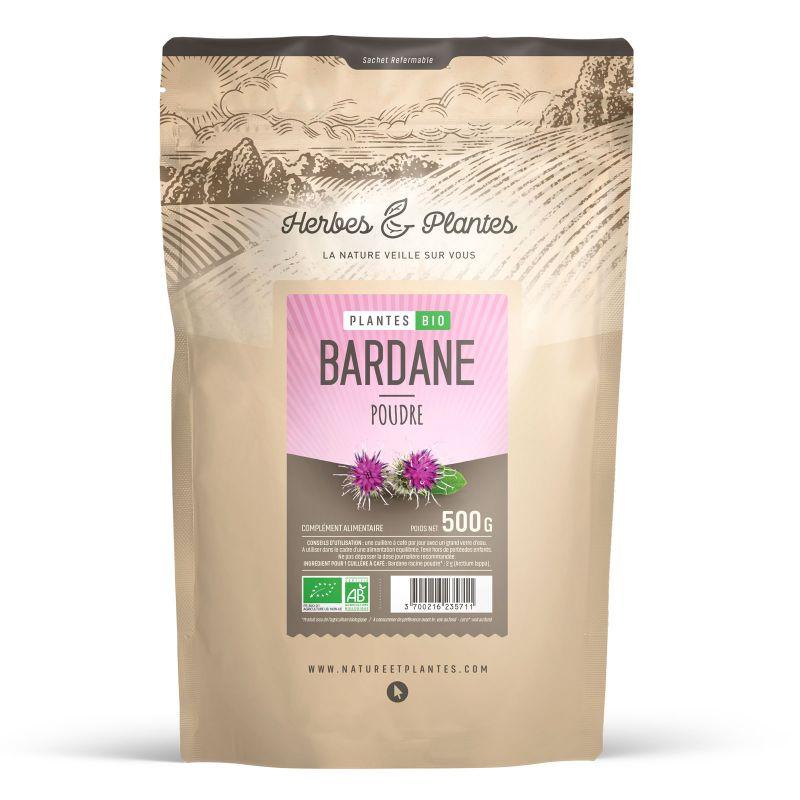 Herbes et Plantes Bardane Bio - 500 g poudre