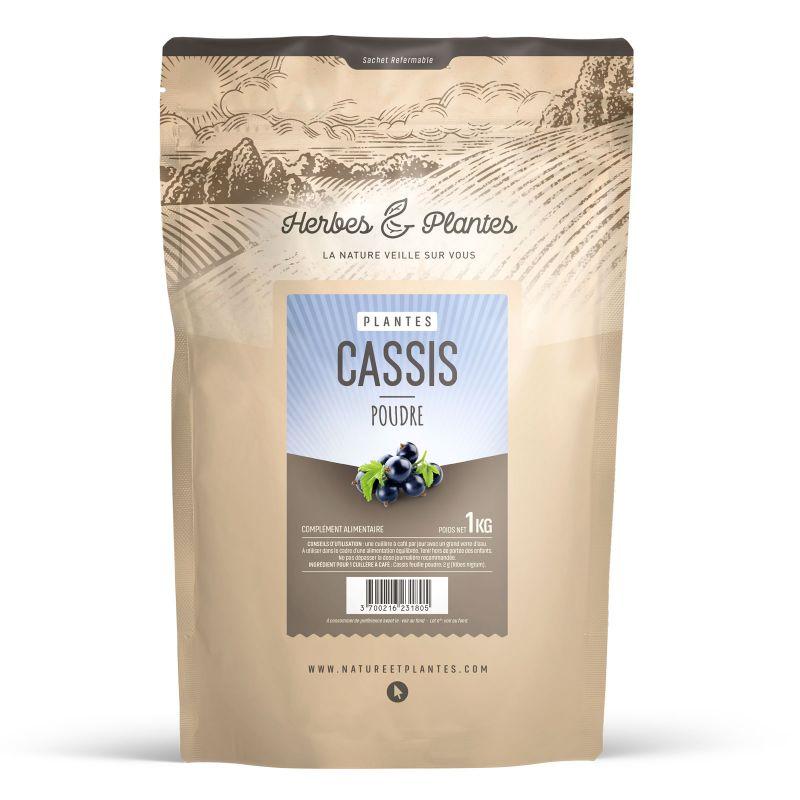 Herbes et Plantes Cassis feuille - 1 Kg de poudre