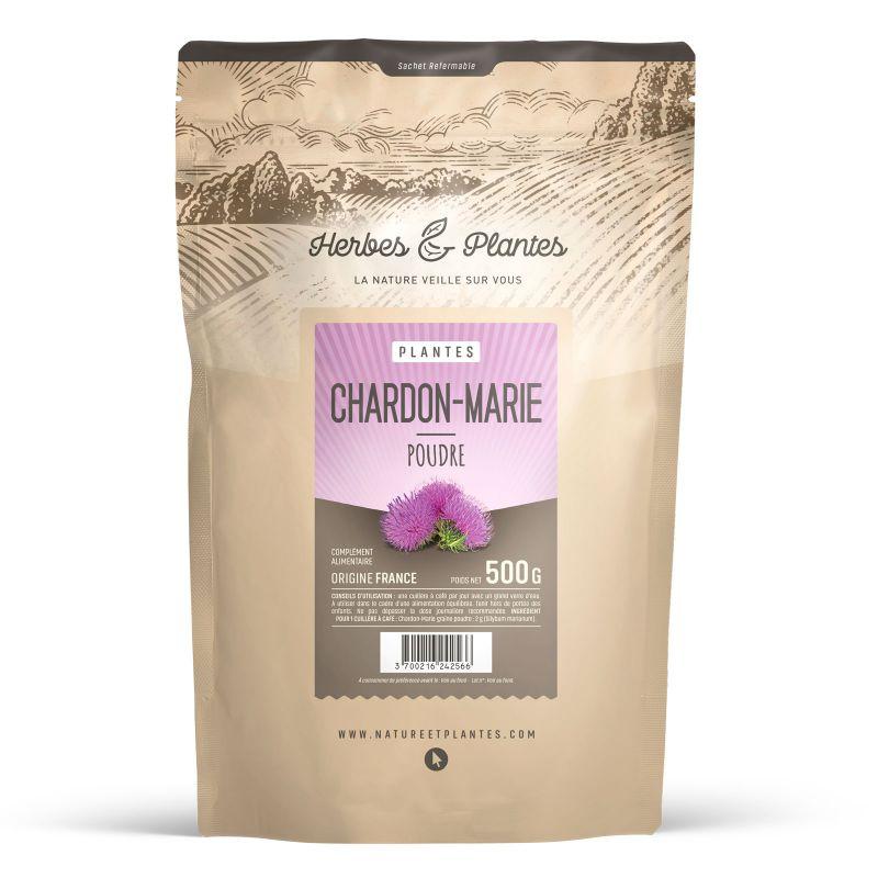 Herbes et Plantes Chardon-Marie - Poudre 500 g