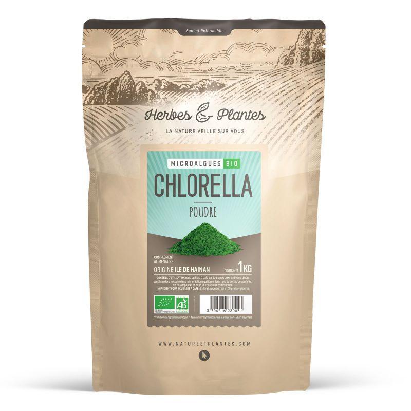 Herbes et Plantes Chlorella Bio - 1 kg de poudre