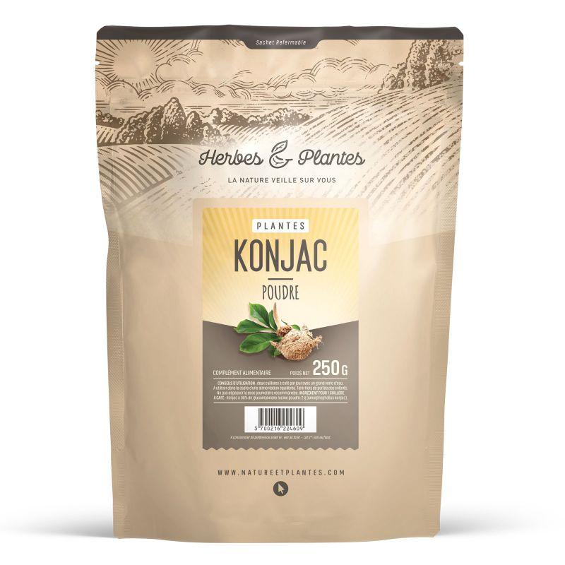 Herbes et Plantes Konjac - 250 g poudre - à 80 % glucomannane