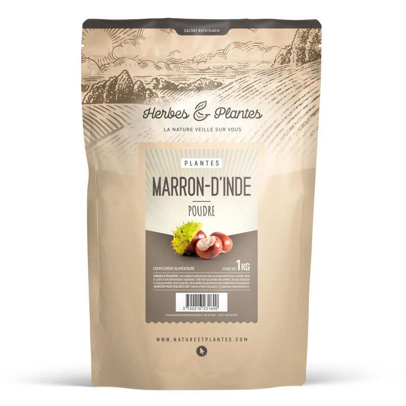 Herbes et Plantes Marron d'Inde - Poudre 1 kg
