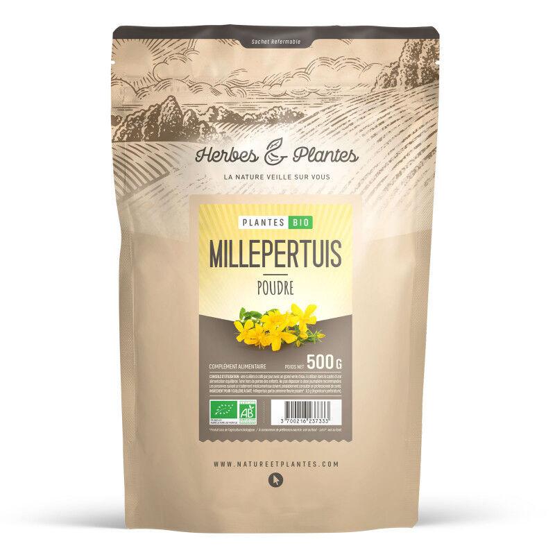 Herbes et Plantes Millepertuis Bio en poudre - 500 g
