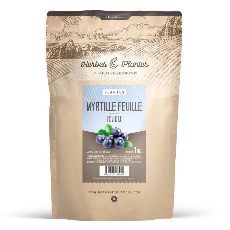 Herbes et Plantes Poudre de Myrtille Feuille - 1 kg