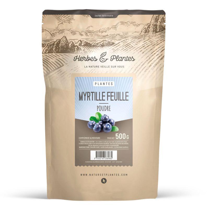 Herbes et Plantes Poudre de Myrtille Feuille - 500 g