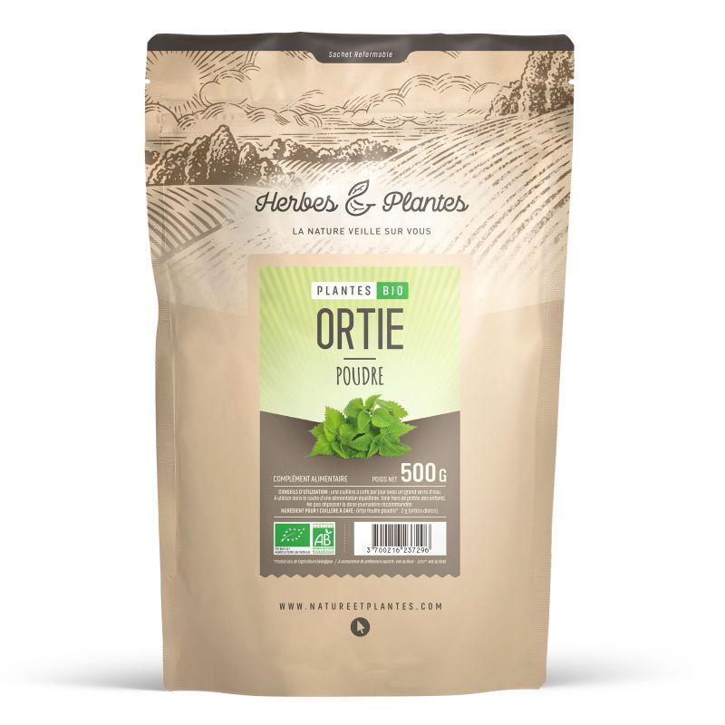 Herbes et Plantes Ortie Bio (feuille) - 500 g de poudre