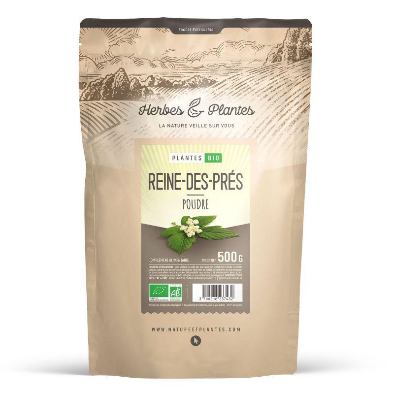 Herbes et Plantes Reine des Prés Bio - 500 g de poudre