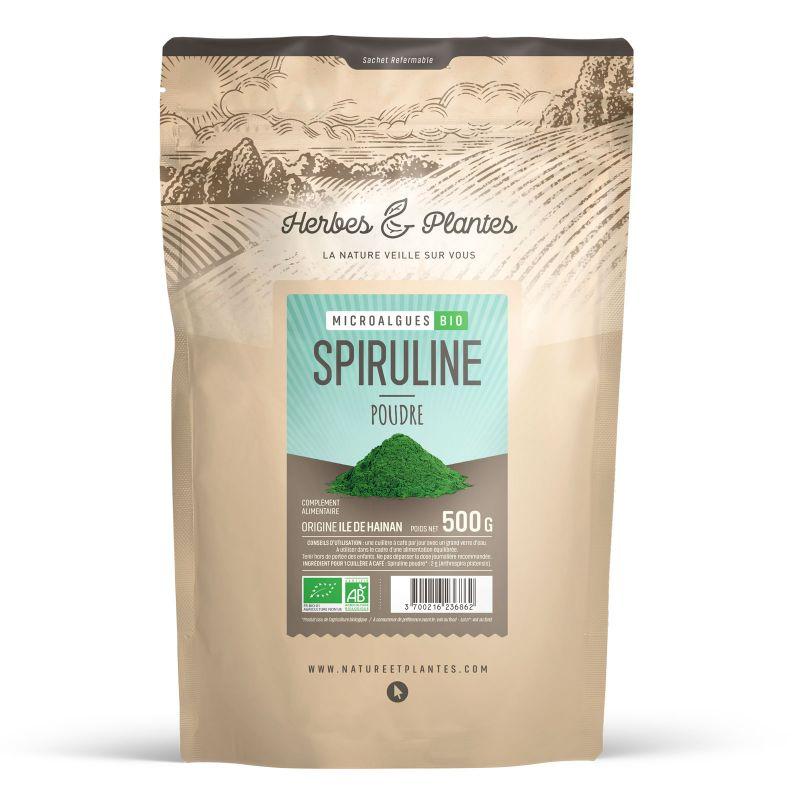 Herbes et Plantes Spiruline Bio - poudre - 500 g