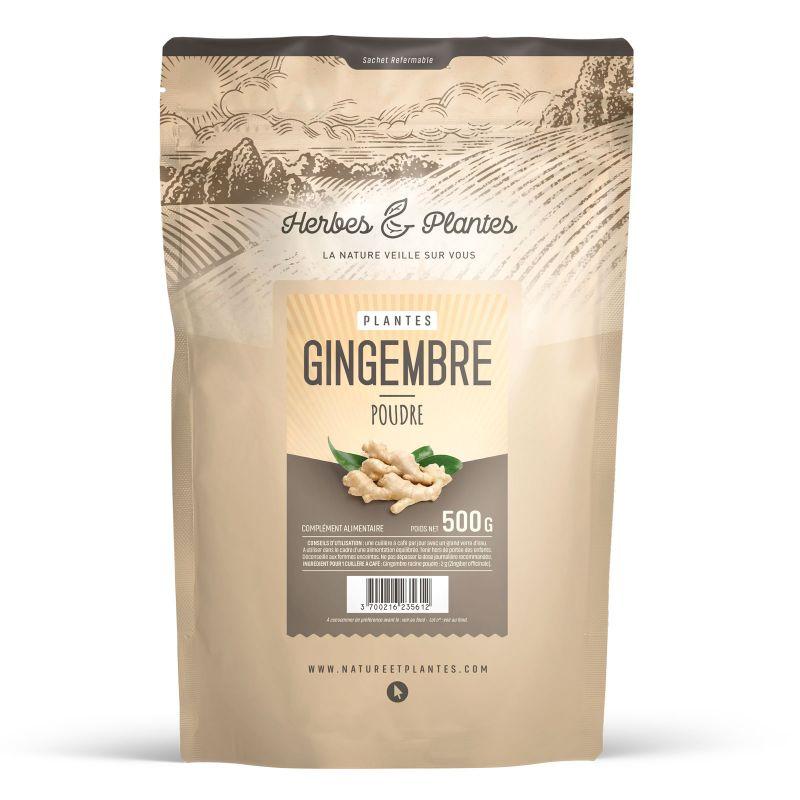 Herbes et Plantes Gingembre - 500 g de poudre