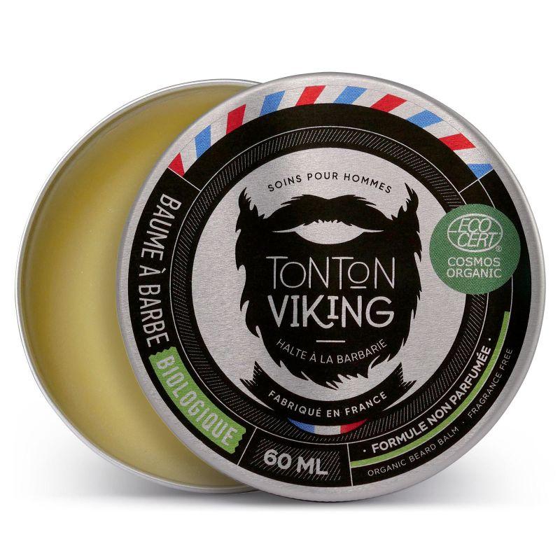 TONTON VIKING Baume à Barbe Bio 60 ml - Cosmos Organic - Tonton Viking Non parfumé
