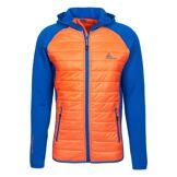 Peak Mountain Blouson polar shell bi-matière CACERLA bleu/orange